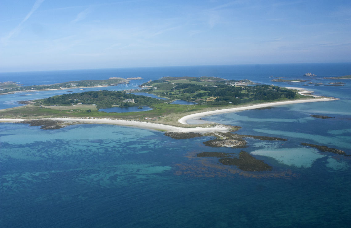 Ariel view of the Isles of Scilly